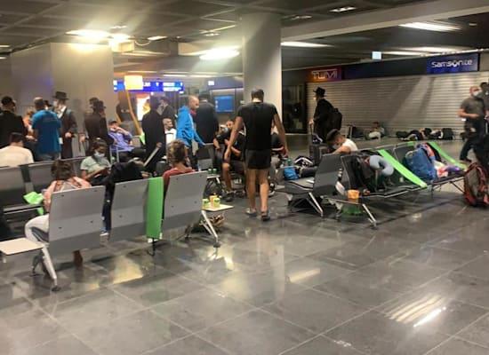 ישראלים תקועים בשדה התעופה בפרנקפורט / צילום: תמונה פרטית