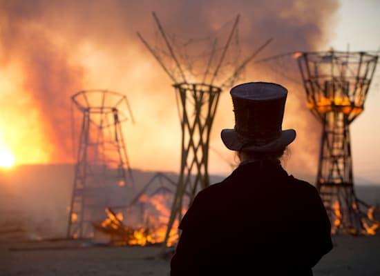 פסטיבל ברנינג־מן בנבאדה / צילום: Associated Press, Oded Balilty