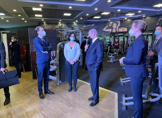 פגישת ראש הממשלה עם ראשי המדינות בחדר כושר / צילום: My first value