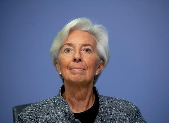"""יו""""ר ה־ECB, קריסטין לגארד. ריבית שלילית / צילום: Associated Press, Michael Probst"""