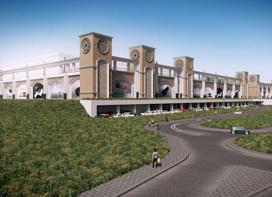 קניון דיזיין סיטי, אזור התעשייה מישור אדומים / הדמיה: אדריכל שלמה גרטנר