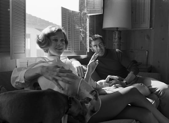 פונדה עם בעלה הראשון רוז'ה ואדים, 1969 / צילום: Reuters