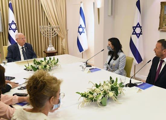 נציגי ימינה בבית הנשיא / צילום: מארק ניימן / לע״מ