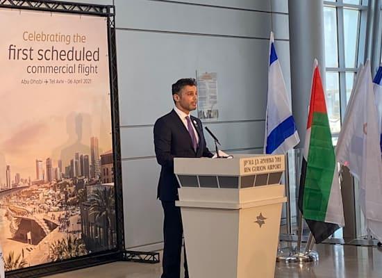 שגריר האמירויות בישראל, מוחמד אל חאג׳ה / צילום: מיכל רז חיימוביץ