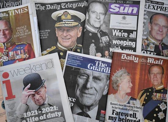 העיתונים בבריטניה מתאבלים השבוע על הנסיך פיליפ / צילום: Associated Press, Kirsty O'Connor