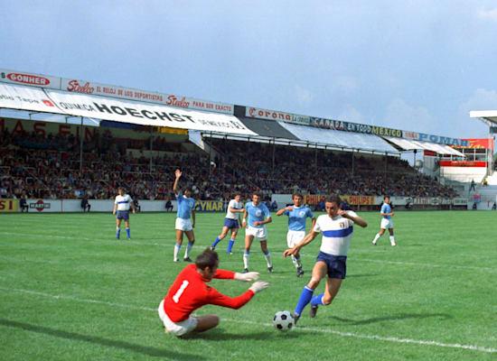 נבחרת ישראל במונדיאל מקסיקו, 1970 / צילום: Associated Press, RAOUL FORNEZZA,