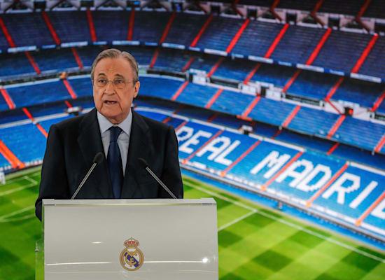 נשיא ריאל מדריד פלורנטינו פרס / צילום: Associated Press, Manu Fernandez