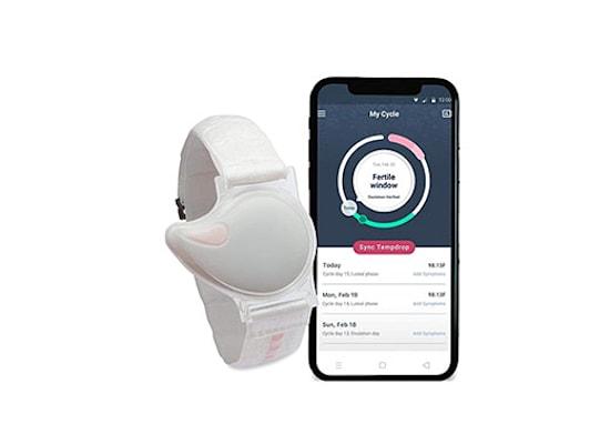 Tempdrop. השעון הנלווה לאפליקציה מודד חום כדי לדייק את המועד בחודש / צילום: מתוך אתר החברה