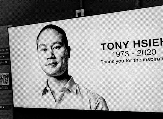 טוני שיי. שלט לזכרו / צילום: Shutterstock