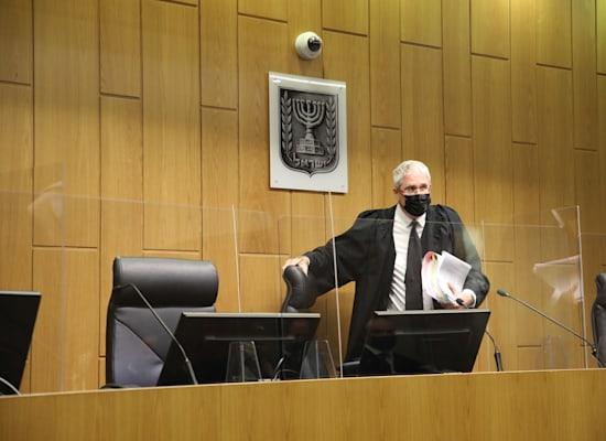 השופט חגי ברנר, מתוך הדיון בפרשת בן ארי / צילום: כדיה לוי