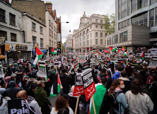 הפגנה נגד ישראל בלונדון