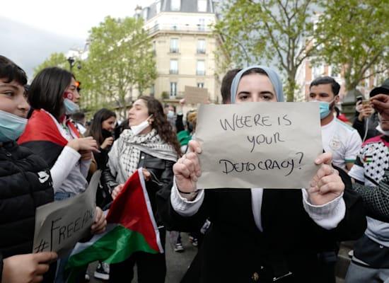 הפגנה נגד ישראל בפריז