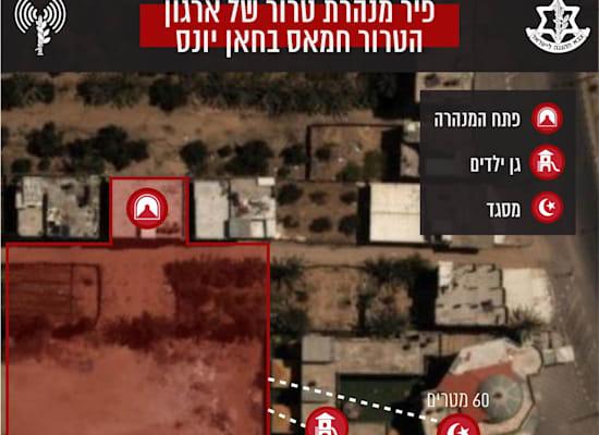 פיר מנהרת הטרור חמאס בחאן יונס / צילום: צילום מסך