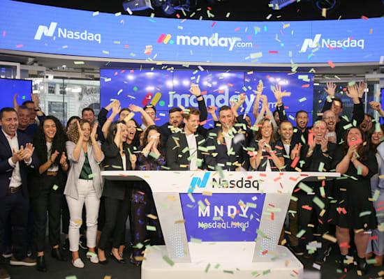 טקס פתיחת המסחר של חברת מאנדיי / צילום: נאסד''ק