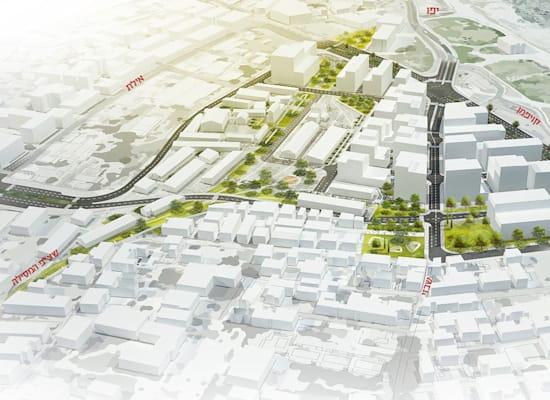 הדמיית תוכנית שכונת מנשייה / הדמיה: דרמן ורבקל אדריכלים