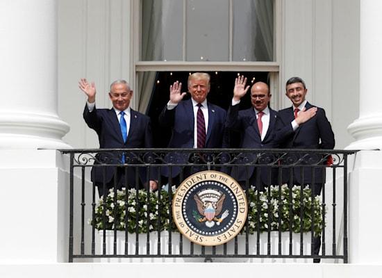 חתימת הסכמי אברהם, ספטמבר 2020 / צילום: Reuters, Tom Brenner
