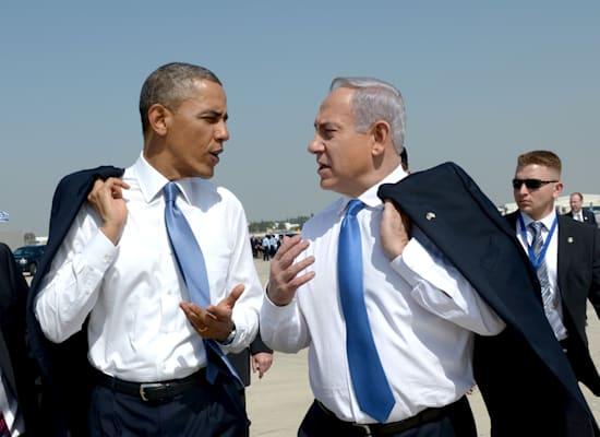 """עם הנשיא אובמה בנתב""""ג, 2013 / צילום: אבי אוחיון - לע""""מ"""