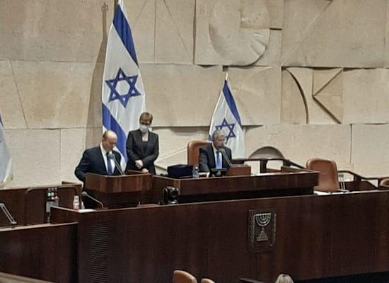 נפתלי בנט נשבע אמונים כראש ממשלת ישראל / צילום: שירית אביטן כהן