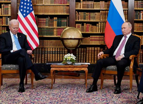 מפגש הפסגה בין ביידן לפוטין, רביעי / צילום: Associated Press