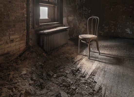 בית חולים ישן ונטוש לחולי נפש בארצות הברית שנבנה בשוליים / צילום: Shutterstock