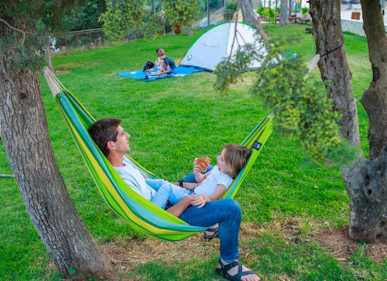 הקמפינג ביער השלום, שלווה גדולה וירוקה / צילום: אליהו ינאי