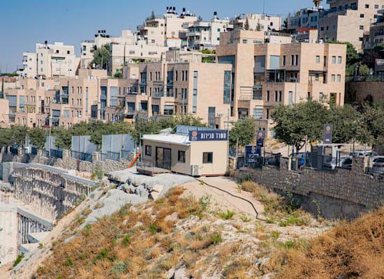 הנחת אבן פינה בפרויקט בניית שכונת נוף ציון / צילום: חיים טויטו
