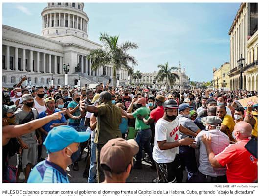 ״אין בנו פחד״, מצטט עיתון במיאמי את המפגינים נגד המשטר בקובה / צילום: גזיר עיתון הראלד