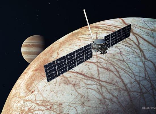 הדמייה של האירופה קליפר במסלול / צילום: Reuters, NASA/JPL-Caltech/Cover-Images.co
