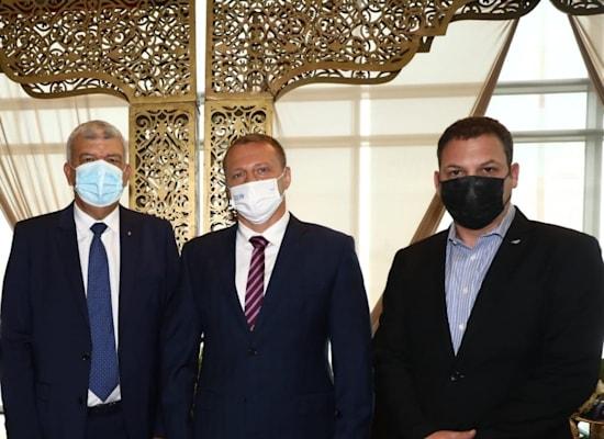 """מימין: אביגל שורק מנכ""""ל אל על, שר התיירות יואל רזבוזוב ושגריר מרוקו בישראל מר איברהים ביוד / צילום: סיון פרג'"""