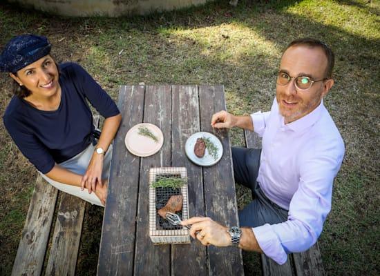 דידיה טוביה ופרופ' שולמית לבנברג, מייסדי חברת אלף פארמס / צילום: שלומי יוסף