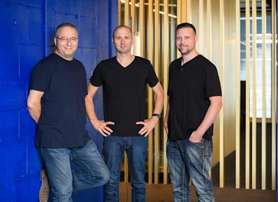 מייסדי ראפיד: עומר פריאל (מימין), אריק שטילמן וארקדי קרפמן / צילום: דיוויד גראב
