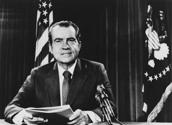הנשיא ניקסון מכריז על ביטול תקן הזהב כבסיס לדולר / צילום: Associated Press, HWG