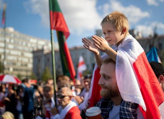 הפגנות בבלארוס / צילום: Associated Press, Mindaugas Kulbis