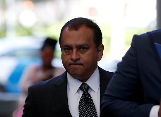 ראמש ''סאני'' בלוואני, האקס של אליזבת הולמס אותו היא מאשימה בהתעללות / צילום: Reuters, Stephen Lam