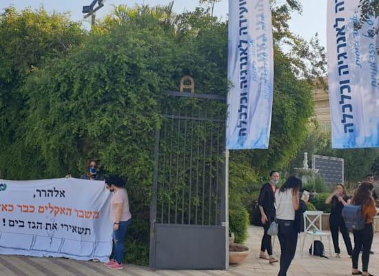 הפגנה נגד ייצוא הגז / צילום: גיא ליברמן