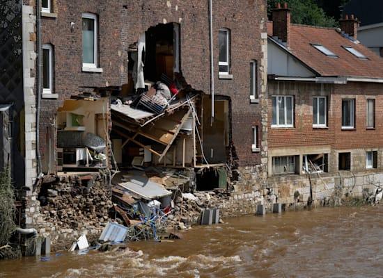 שיטפונות הרסניים בבלגיה / צילום: Associated Press, Virginia Mayo