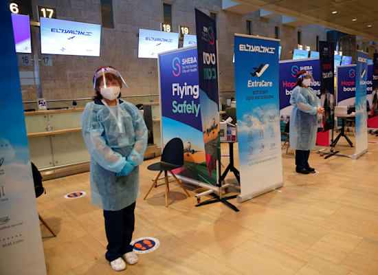 הפיילוט של אל על לבדיקות קורונה לפני טיסה. מרץ 2021 / צילום: Shutterstock