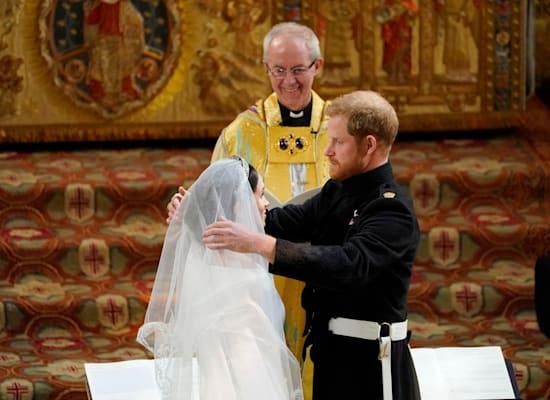 החתונה של הנסיך הארי ומייגן במאי 2018 / צילום: Associated Press, Owen Humphreys