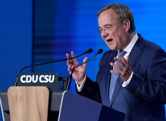 מועמד המפלגה הנוצרית-דמוקרטית, ארמין לאשט / צילום: Associated Press, Matthias Schrader