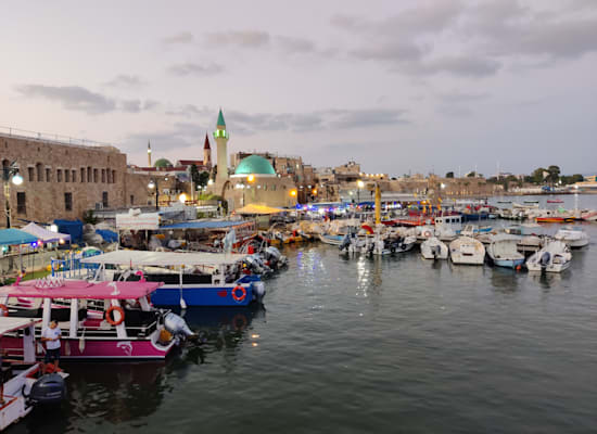 מבט אל נמל עכו / צילום: אורלי גנוסר
