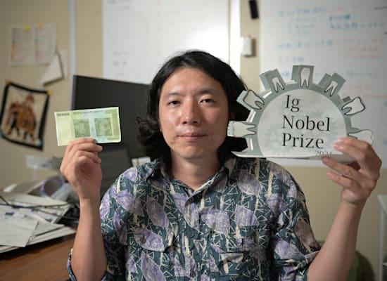 היסאשי מורקמי שחקר למה אנחנו מתנגשים / צילום: Reuters, Michihiro Kawamura