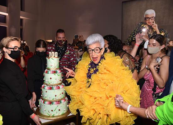 אייריס אפפל במסיבת יום ההולדת המאה / צילום: מתוך הרשתות החברתיות של אייריס אפפל