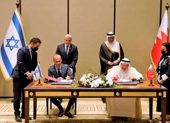 חתימת ההסכם בבחריין / צילום: מקורות