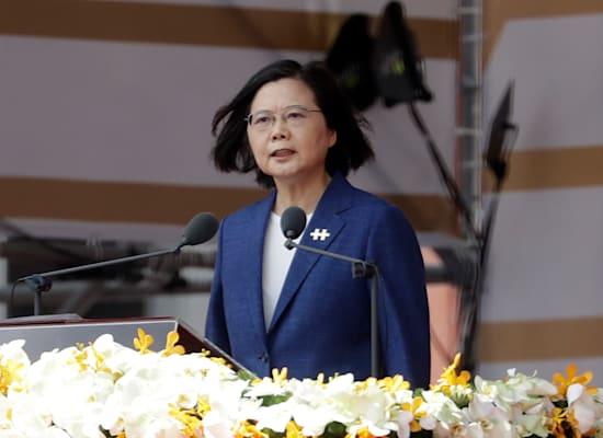 נשיאת טייוואן, צאי אינג־וון / צילום: Associated Press, Chiang Ying-ying