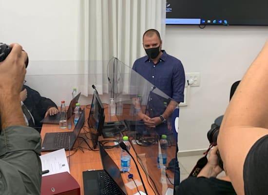 אבירם אלעד ביומו השני לעדות במשפט נתניהו / צילום: ניצן שפיר