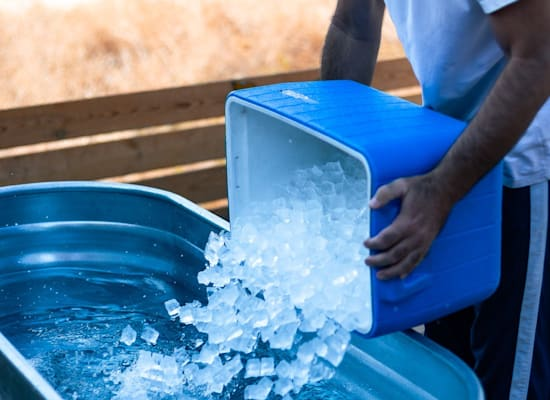 אמבט קרח / צילום: בר שלגי