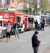 משאית אוכל בשבדיה. נפוצות ברחבי העולם / צילום: Reuters