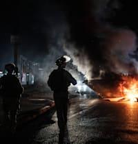המהומות בלוד, אמש / צילום: Associated Press, Heidi Levine