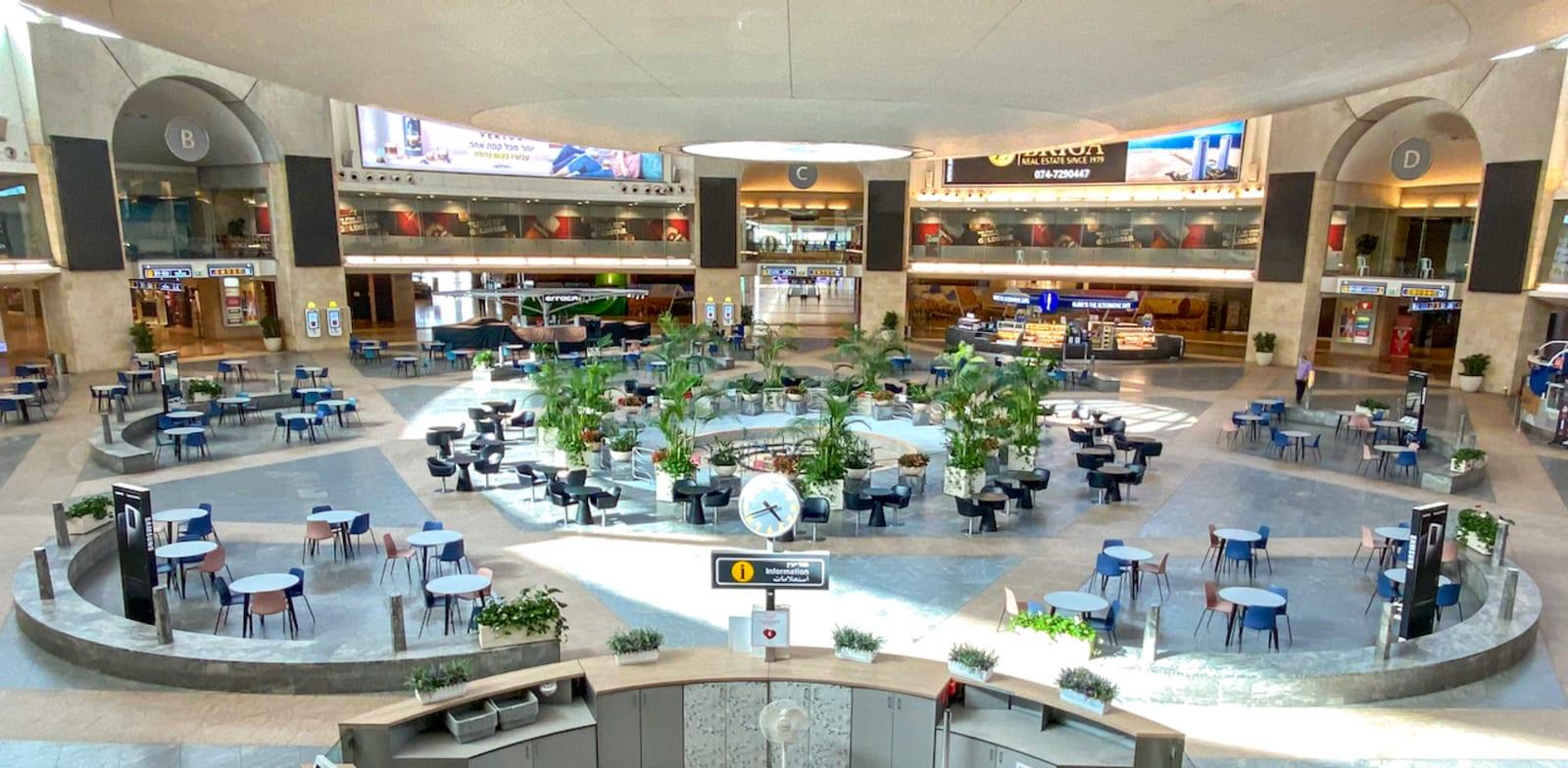 """שדה התעופה נתב""""ג ריק מנוסעים / צילום: יוסי פתאל"""