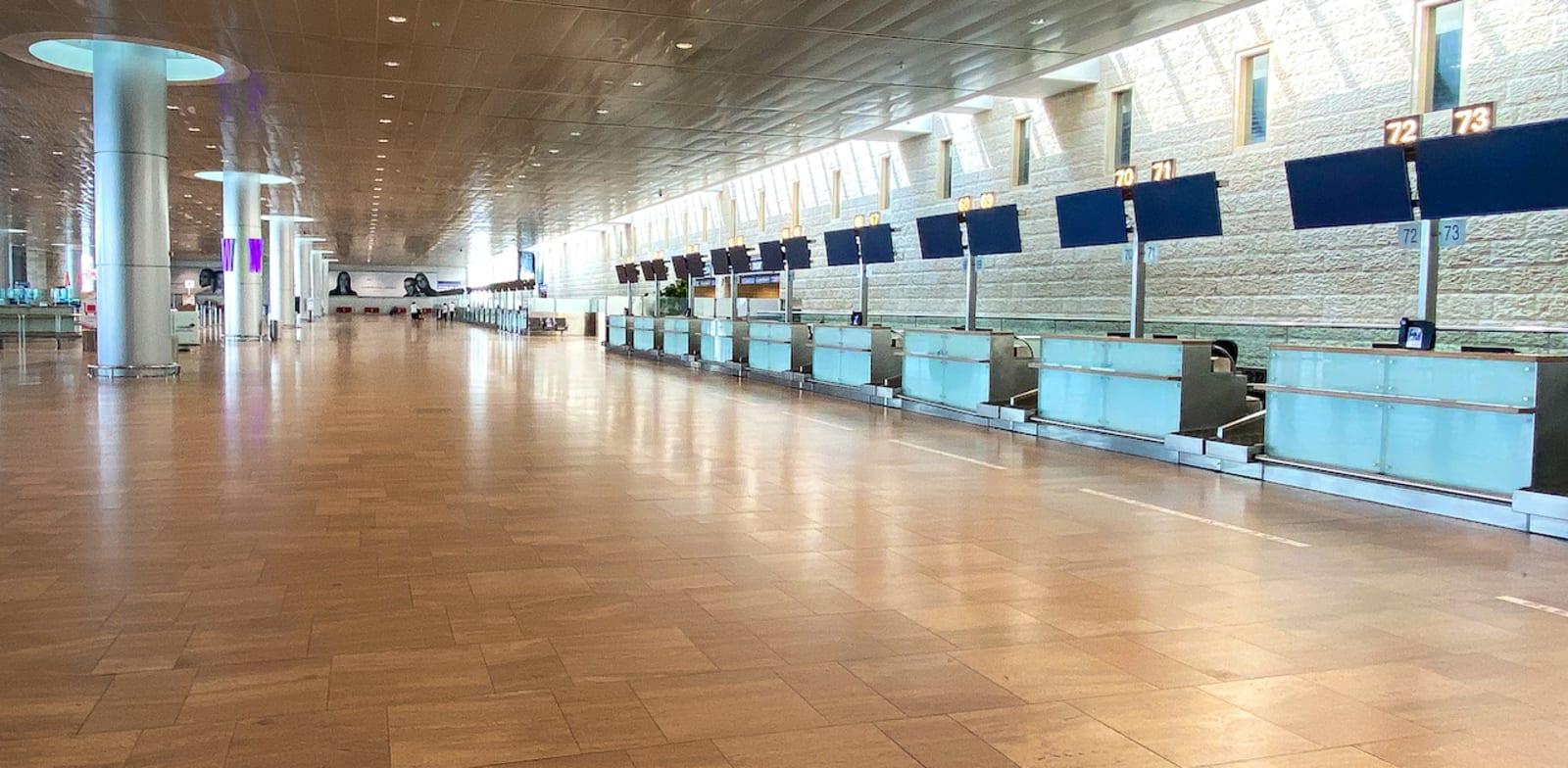 """בעקבות הקורונה: שדה התעופה נתב""""ג ריק מנוסעים / צילום: יוסי פתאל"""